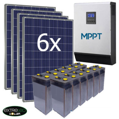 Kit Solar de 10kWh/día con bateria de 750Ah