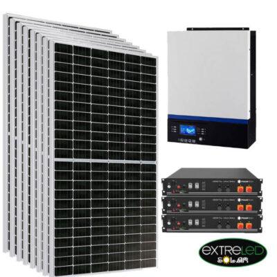 Kit solar 21600Wh/día con batería litio TS2400 10.5kw